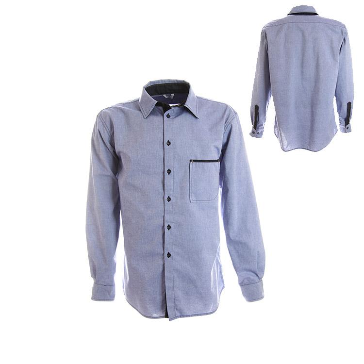 Overhemd Chambray lange mouw
